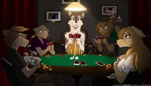 Keidran Playing Poker